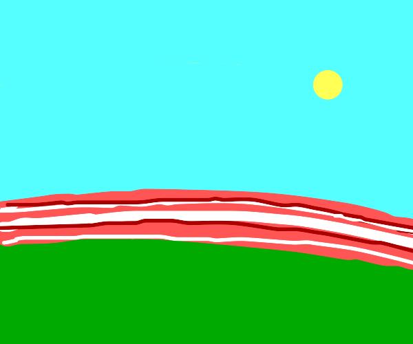 A giant strip of bacon over the horizon