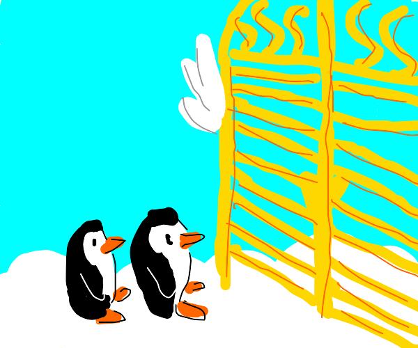 Penguins at heaven's gate