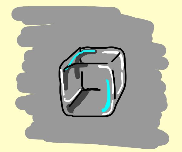 A single ice cube