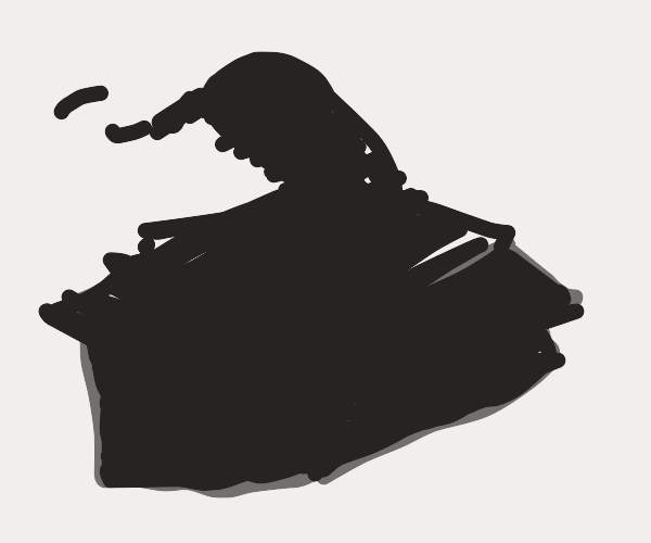 Snake in a box but as a silhouette