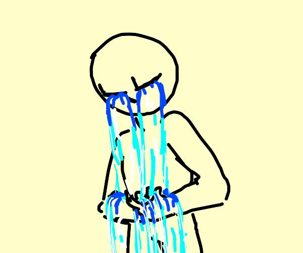 Sobbing man