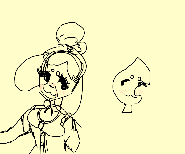 """Isabelle really """"likes"""" leaf"""