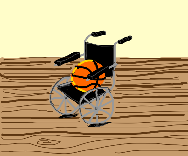 basketball in a wheelchair