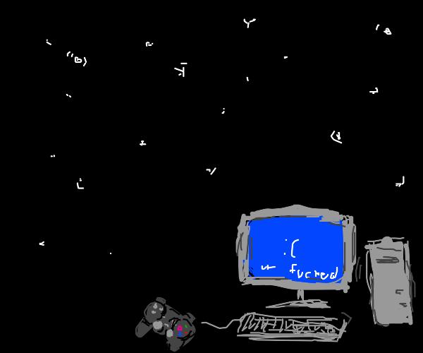 Stars and Computer w/ Joystick
