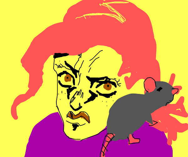 Doppio talking on a rat phone