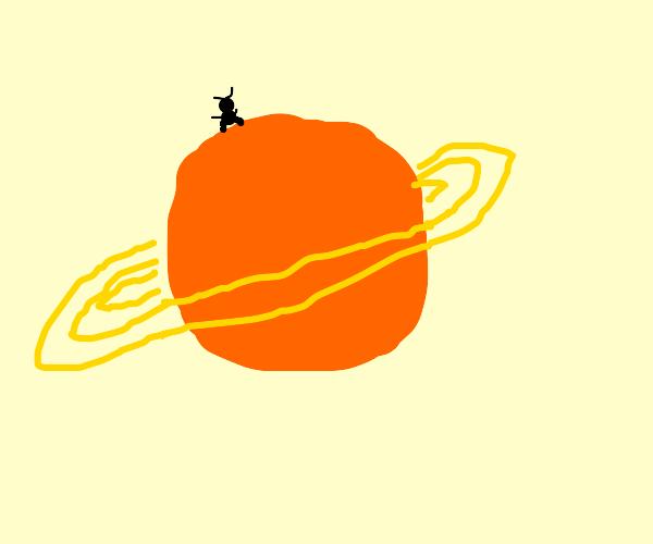 A bug dances on Saturn.