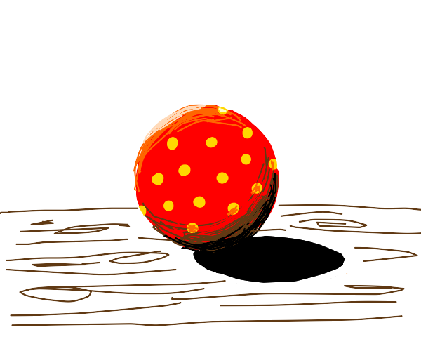 Red Ball With Poka dots