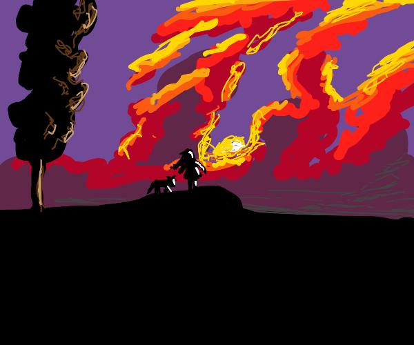 Dragon brood sunrise cloud cluster