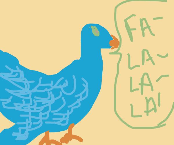 blue bird singing