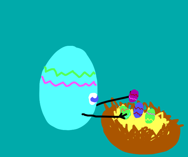 Egg hiding easter eggs