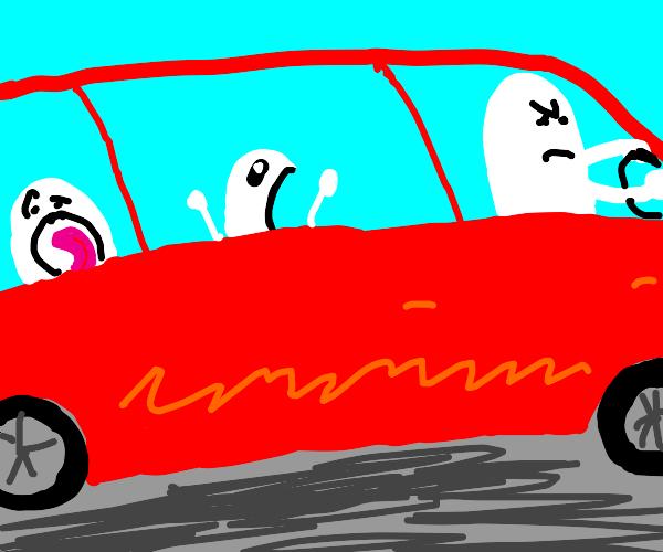 noisy kids in car