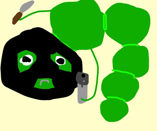 Caterpillar robber
