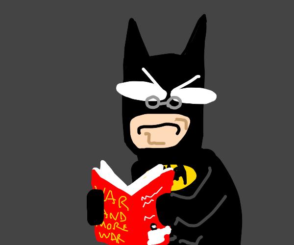 batman reading a book