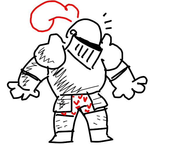 knight forgot to wear pants