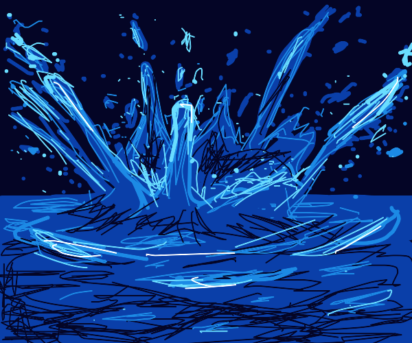 Big splash on the water