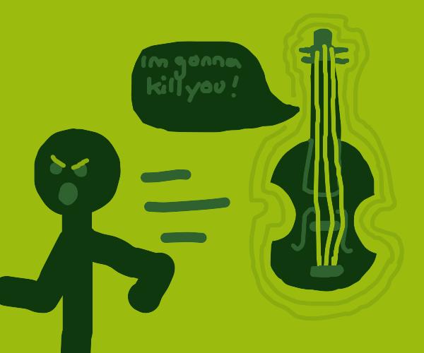 man hates possessed violin