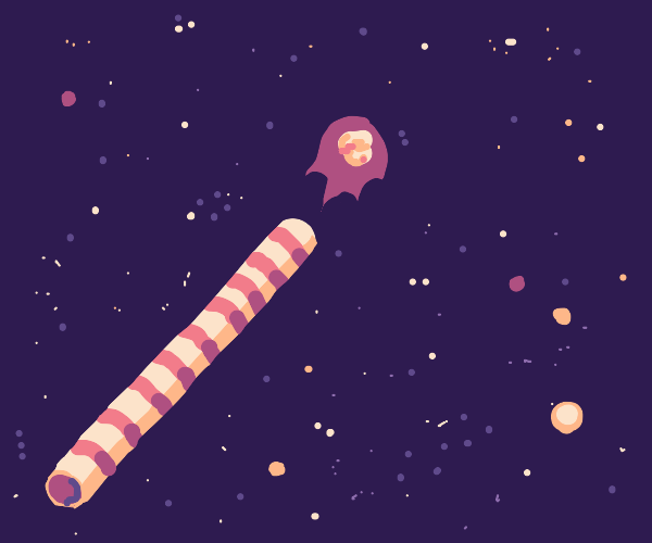 cosmic spitball and straw