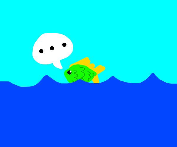 silent fish on sea