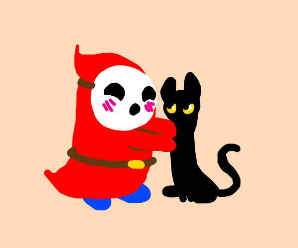 Shy Guy in love with cat