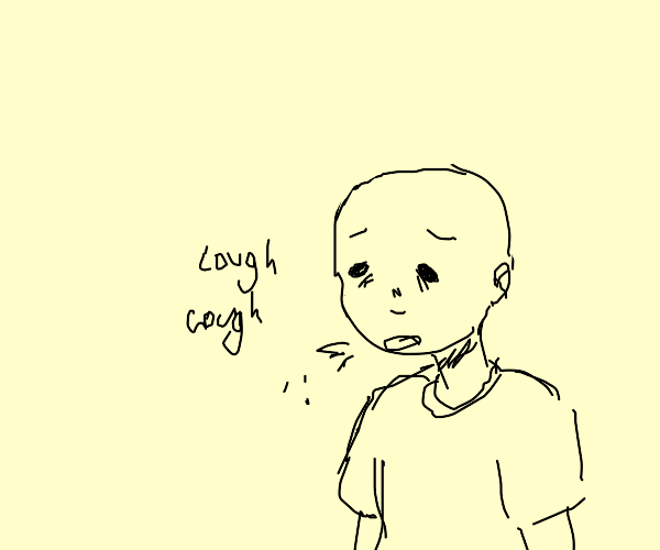 Sick bald kid