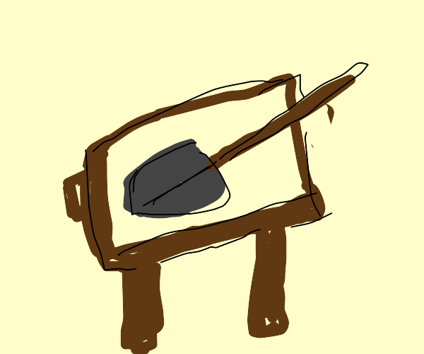 Shovel on a Table