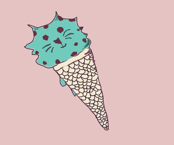 Mint Chocolate chip ice cream cat