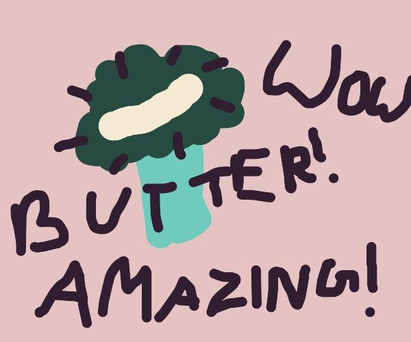 an astonishing slice of butter!
