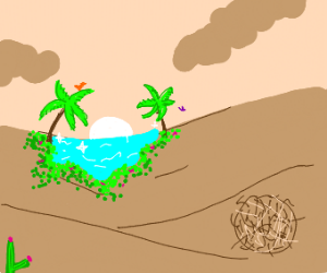 Oasis in the middle of the desert