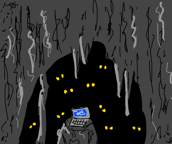 Laptop in a Cave