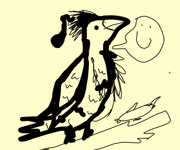 Hawk enjoying the afterlife