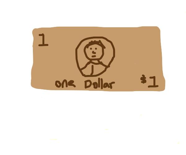 Brown dollar bill