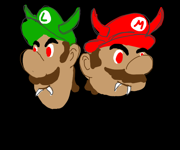 the mario brothers are demons