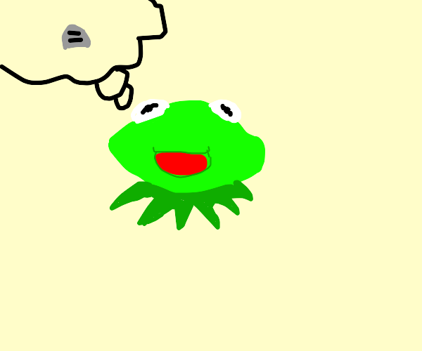Kermit contemplating death