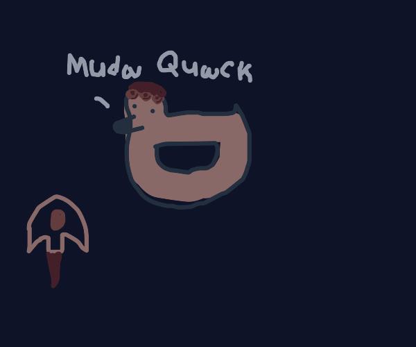 Drawception Duck as Giorno Giovanna