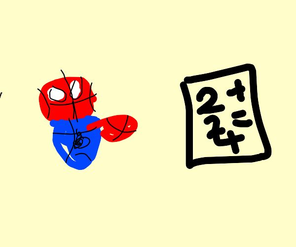 Spider is bad at maths