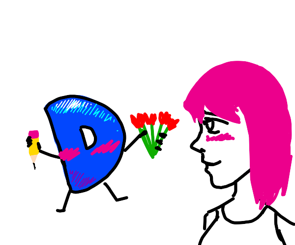 Drawception Loves Pink Haired Person