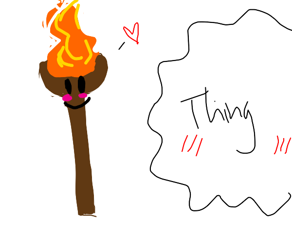 human torch flirts with the thing