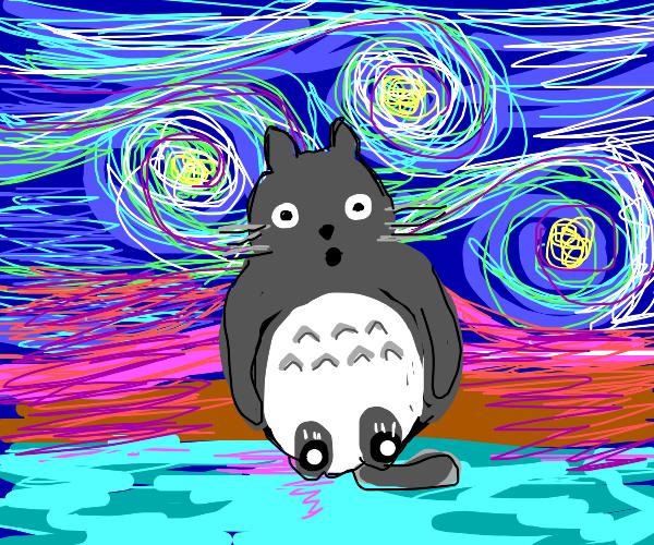 totoro is in Starry Night!