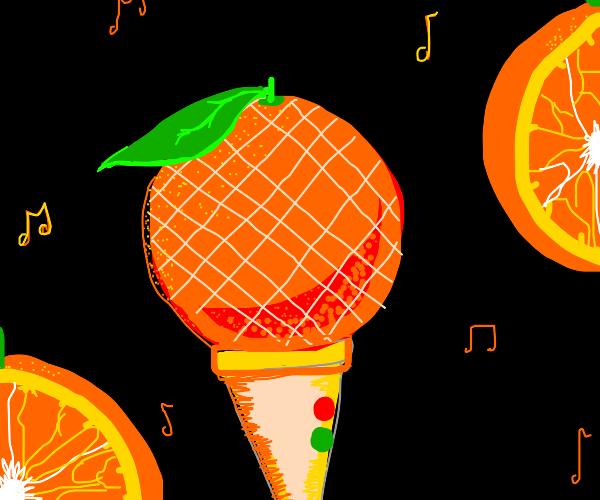 Orange Microphone