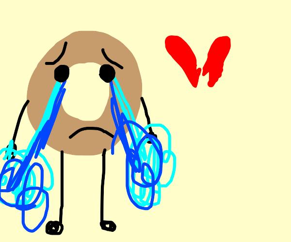 donut is heartbroken