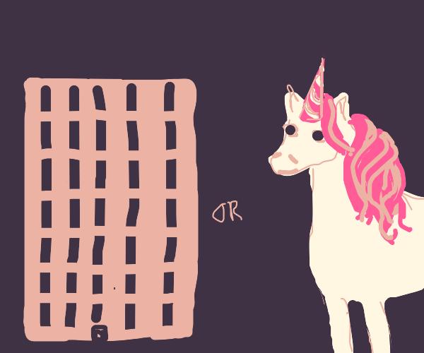 a building vs. a unicorn