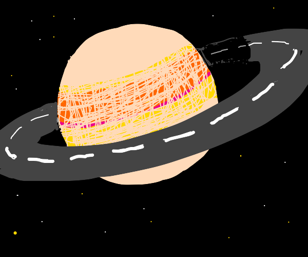 Saturn ring road