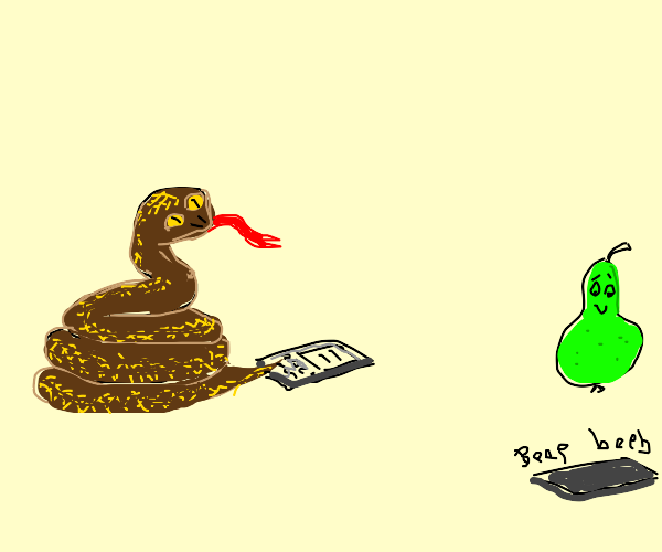 Brown Snake texting to Peer Cutely
