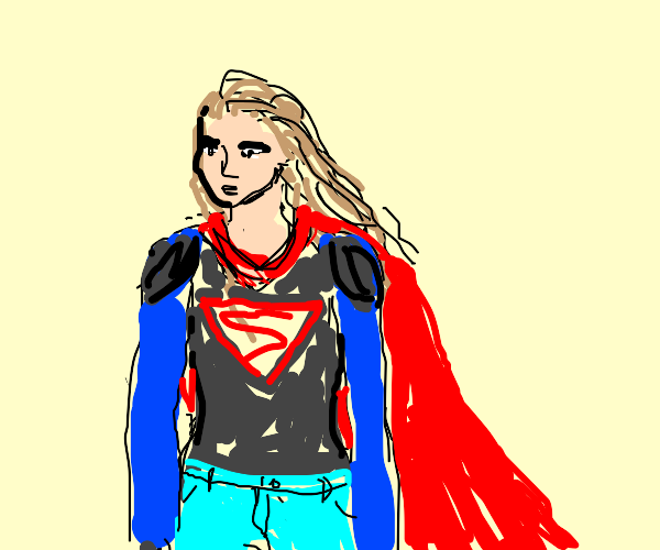 supergirl in jeans