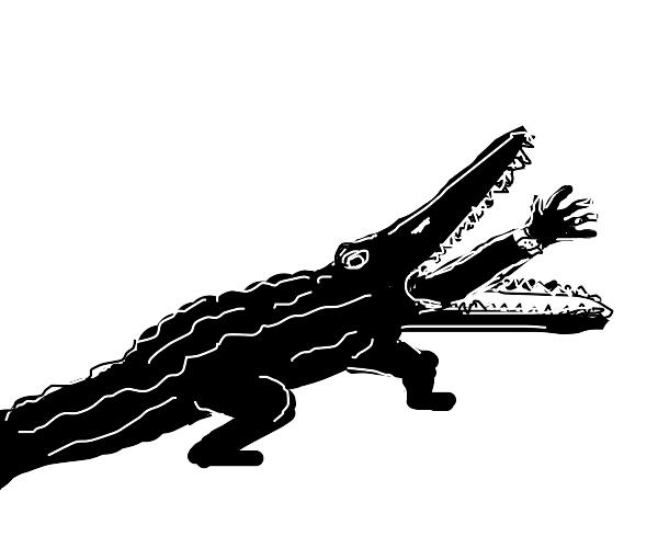 Crocodile eating a... human?! AAHHH!!! D: