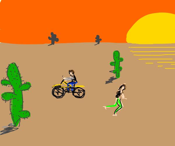 traffic in the desert