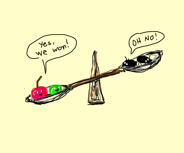 cherry and pea wage war on roaches