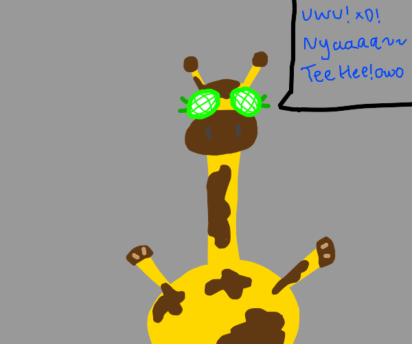 Alien Giraffe talks like a furry