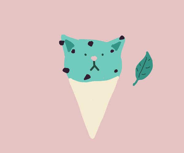 mint chip ice cream cat