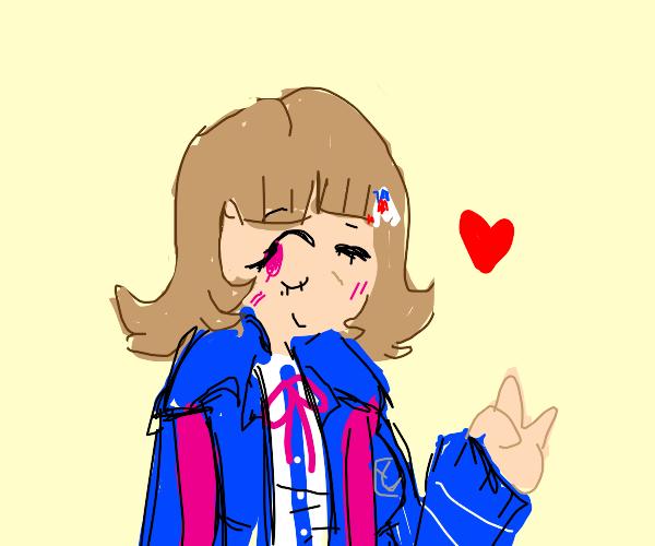 Chiaki Nanami winking at you